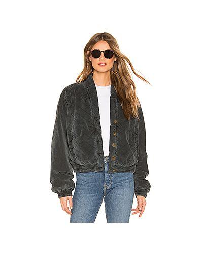 Стеганая куртка на пуговицах с карманами Free People