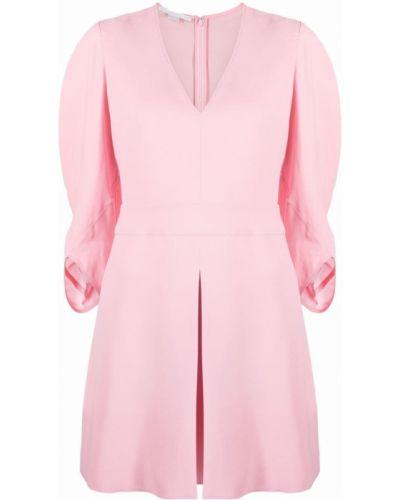 Платье с V-образным вырезом - розовое Stella Mccartney