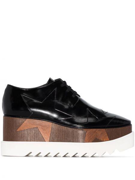 Брендовые черные туфли на шнурках Stella Mccartney