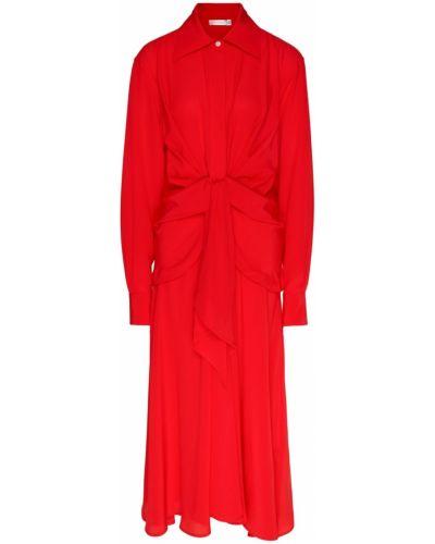 Платье миди на пуговицах с поясом Victoria Beckham