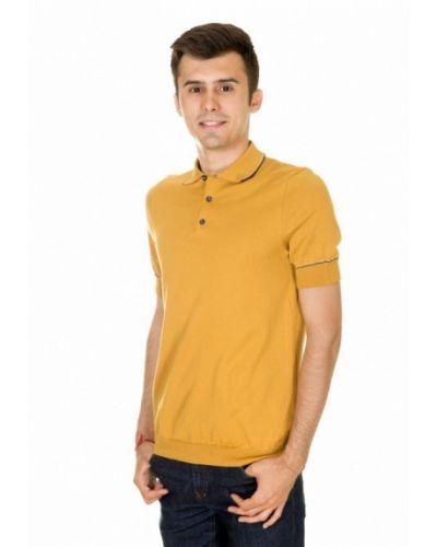 Желтое поло с коротким рукавом Arber