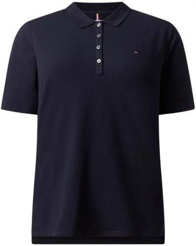 T-shirt bawełniana - niebieska Tommy Hilfiger Curve