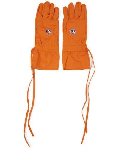 Rękawiczki z mankietami pomarańczowy Raf Simons