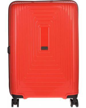 Оранжевый чемодан Fabretti