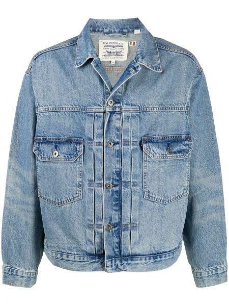 Ватная с рукавами синяя джинсовая куртка Levi's®