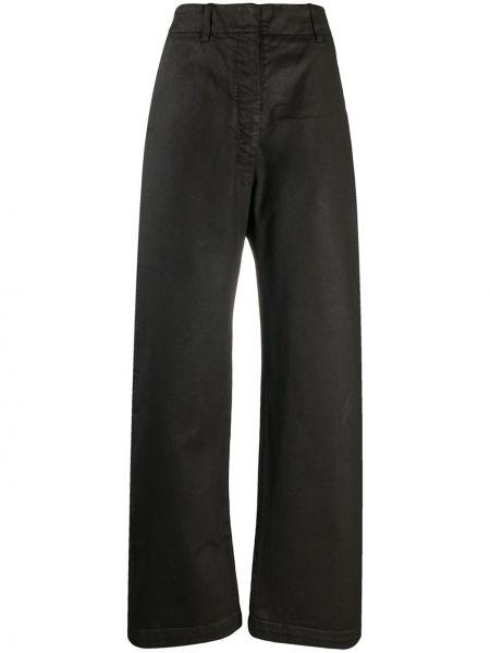 Brązowy bawełna jeansy na wysokości z paskiem bezpłatne cięcie Lemaire