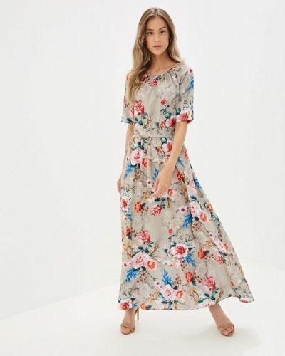 Платье прямое бежевое Doroteya