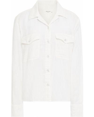Biała koszula bawełniana - biała Rag & Bone