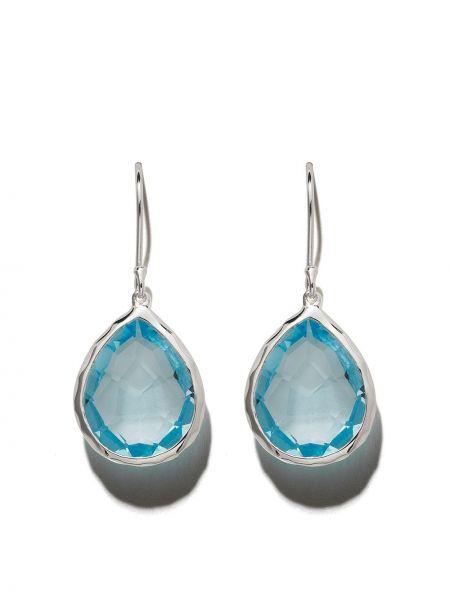 Niebieskie kolczyki sztyfty srebrne Ippolita