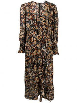 Платье миди с принтом - черное Iro