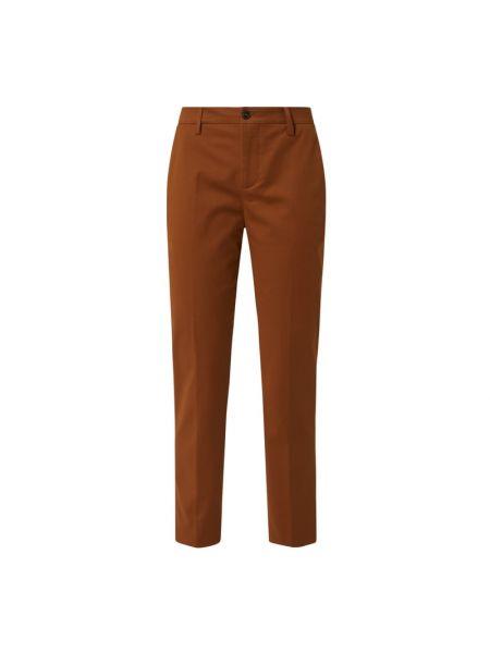 Bawełna bawełna brązowy chinosy z kieszeniami Closed