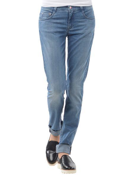 Хлопковые синие джинсы Harmont&blaine