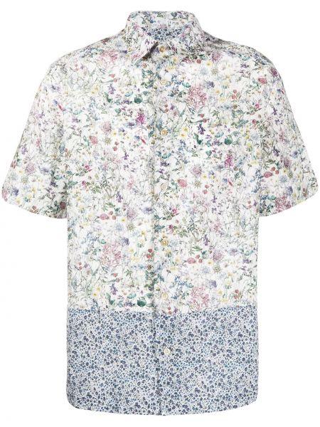 Koszula krótkie z krótkim rękawem z kołnierzem z nadrukiem Paul Smith
