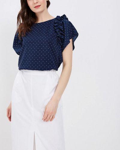 Синяя блузка с рюшами Zarina