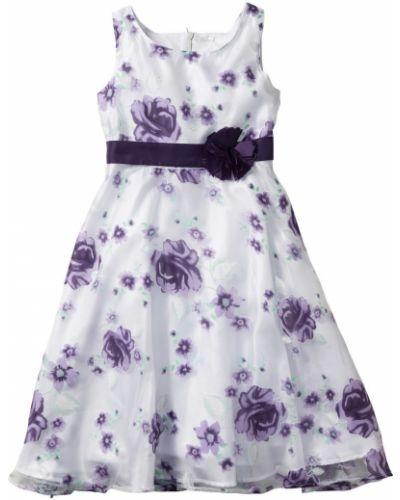 Сатиновое фиолетовое платье на торжество Bonprix