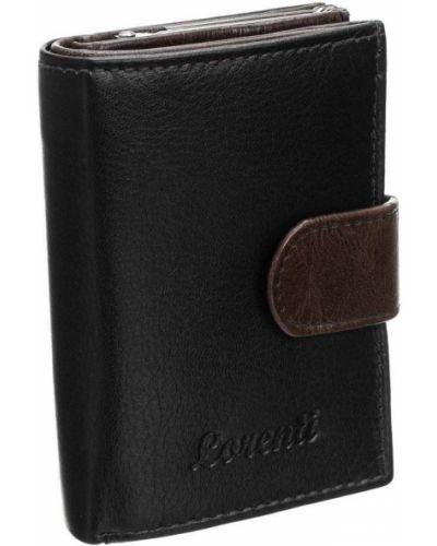 Czarny portfel skórzany Lorenti