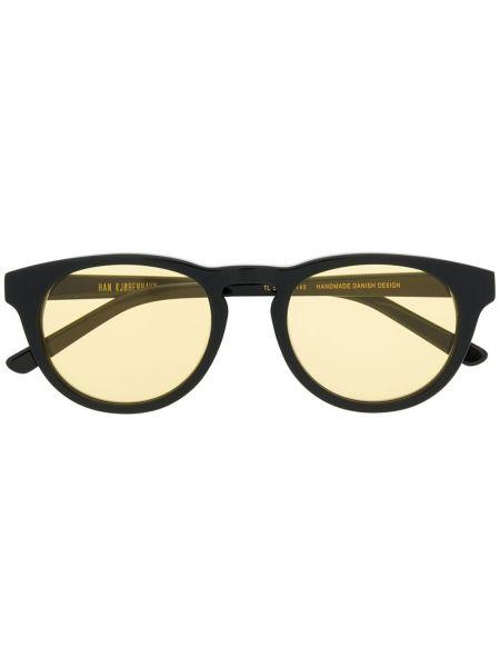 Прямые черные солнцезащитные очки круглые Han Kjøbenhavn