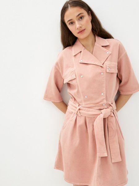 Розовое джинсовое платье Twist & Tango