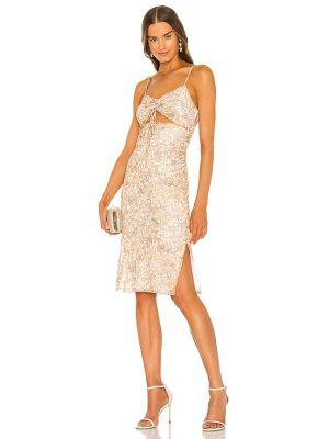 Вечернее платье с вырезом - коричневое Bcbgeneration