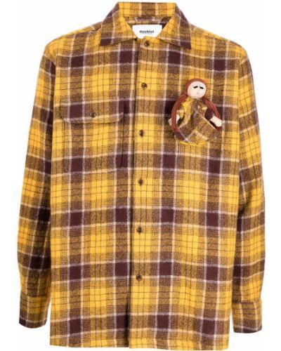 Żółta koszula zapinane na guziki Doublet