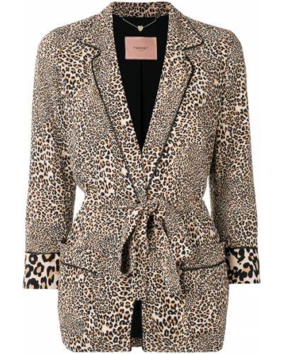Классический пиджак бежевый с поясом Twin-set