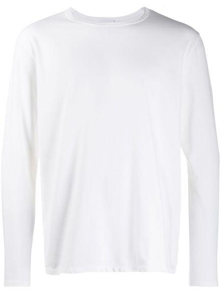 Biały t-shirt bawełniany Nanamica