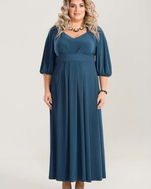 Вечернее платье с декольте с поясом Luxury