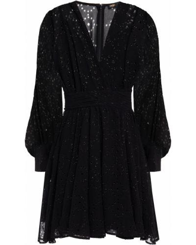 Черное платье с подкладкой Maje