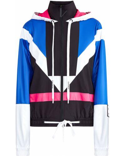 Куртка с капюшоном нейлоновая розовая Versace