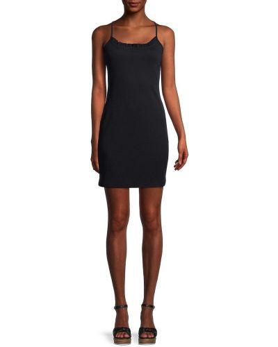Хлопковое платье мини - черное Bcbgeneration
