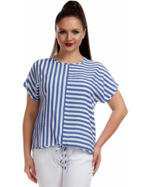 Блузка в полоску из штапеля Liza Fashion