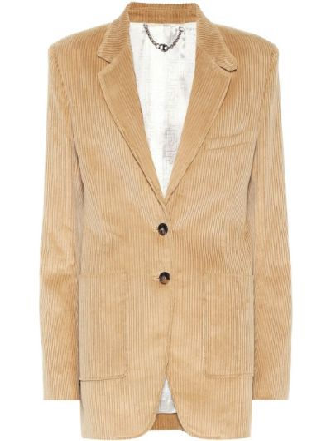 Ватный бежевый пиджак вельветовый Paco Rabanne