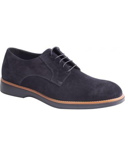 Синие туфли замшевые Ermenegildo Zegna
