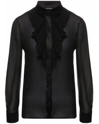 Блузка прозрачная шелковая Emporio Armani