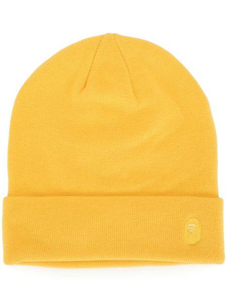 Акриловая желтая вязаная шапка бини A Bathing Ape®