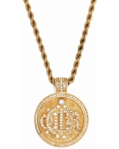 Złoty medalion Christian Dior