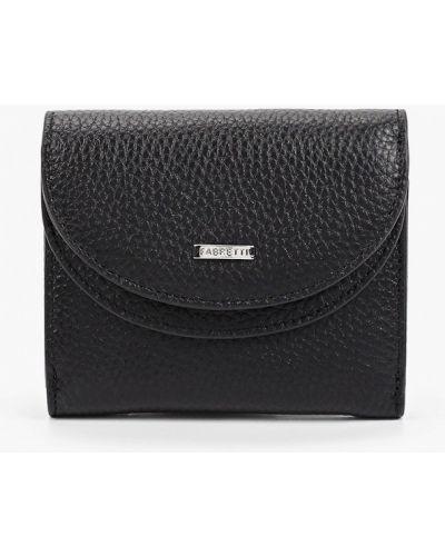 Черный кожаный кошелек Fabretti
