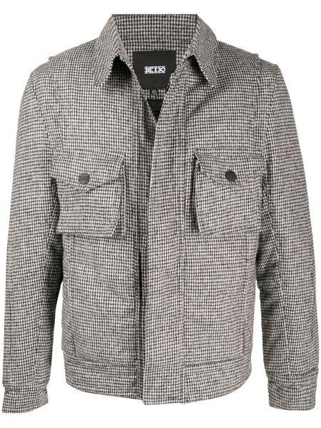 Шерстяная классическая черная куртка с воротником Ktz