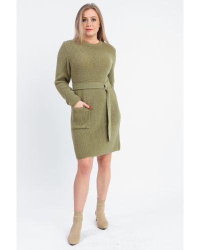 Платье с поясом вязаное прямое Lacywear