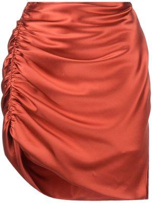 Юбка мини с завышенной талией - оранжевая Michelle Mason