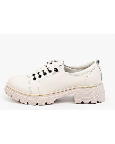 Белые кожаные туфли Francesco Donni