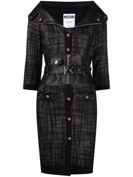 Черное шелковое платье Moschino