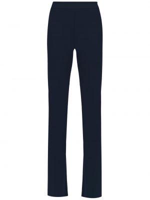 Синие расклешенные брюки с высокой посадкой Gloria Coelho