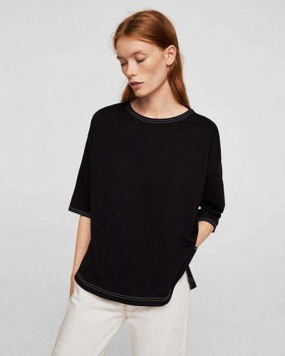 Черная футболка Mango