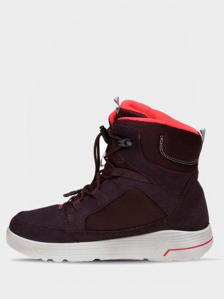 Ботфорты на шнуровке - красные Ecco