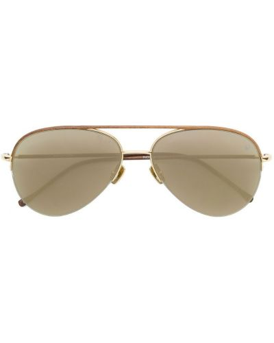 Очки авиаторы солнцезащитные коричневый Belstaff