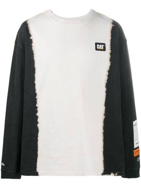 Bawełna prosto czarny koszula okrągły dekolt Heron Preston