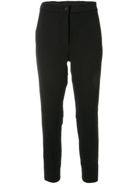 Черные укороченные брюки с поясом с манжетами на пуговицах Manning Cartell