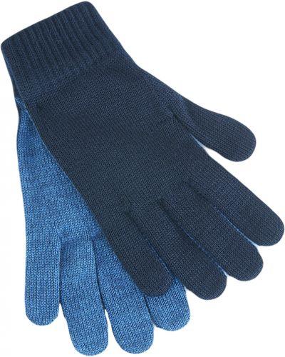 Перчатки акриловые синий Armani Jeans