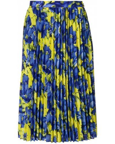 Синяя плиссированная юбка Balenciaga